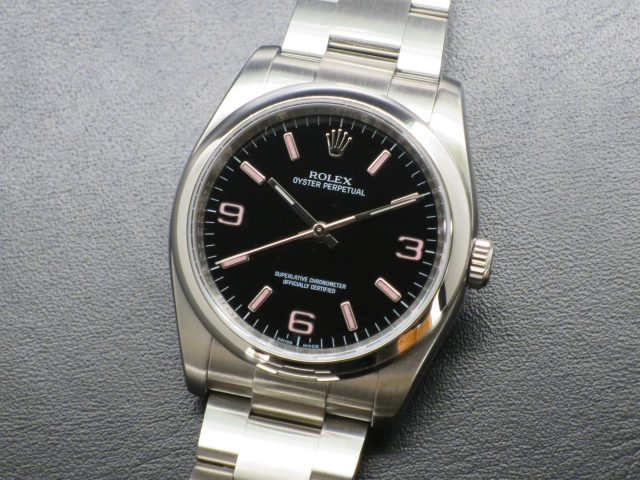 2920b7dcc6 OYSTER PERPETUAL 36 Ref.116000 ブラック369ピンク