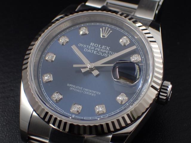 10Pダイヤが映えるブルーダイヤル Ref.126234G